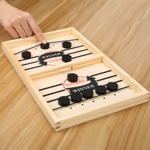 Family Table 2 in 1 Hockey Game Catapult Chess Fast Sling Puck Game Ice Hockey Game Parent-child Interactive Montessori Toys
