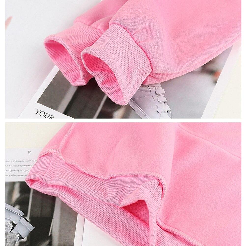 Women/Men's Sweatshirt Autumn Solid Color Long Sleeve Hoodie Pocket Drawstring Loose Sweatshirt Warm Pocket Oversize Pullovers 5