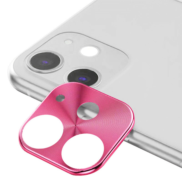 New For iPhone 11 6.1in Metal Frame Full Cover Glass Camera Protector Cell Phones Lens Screen Scratch-Proof