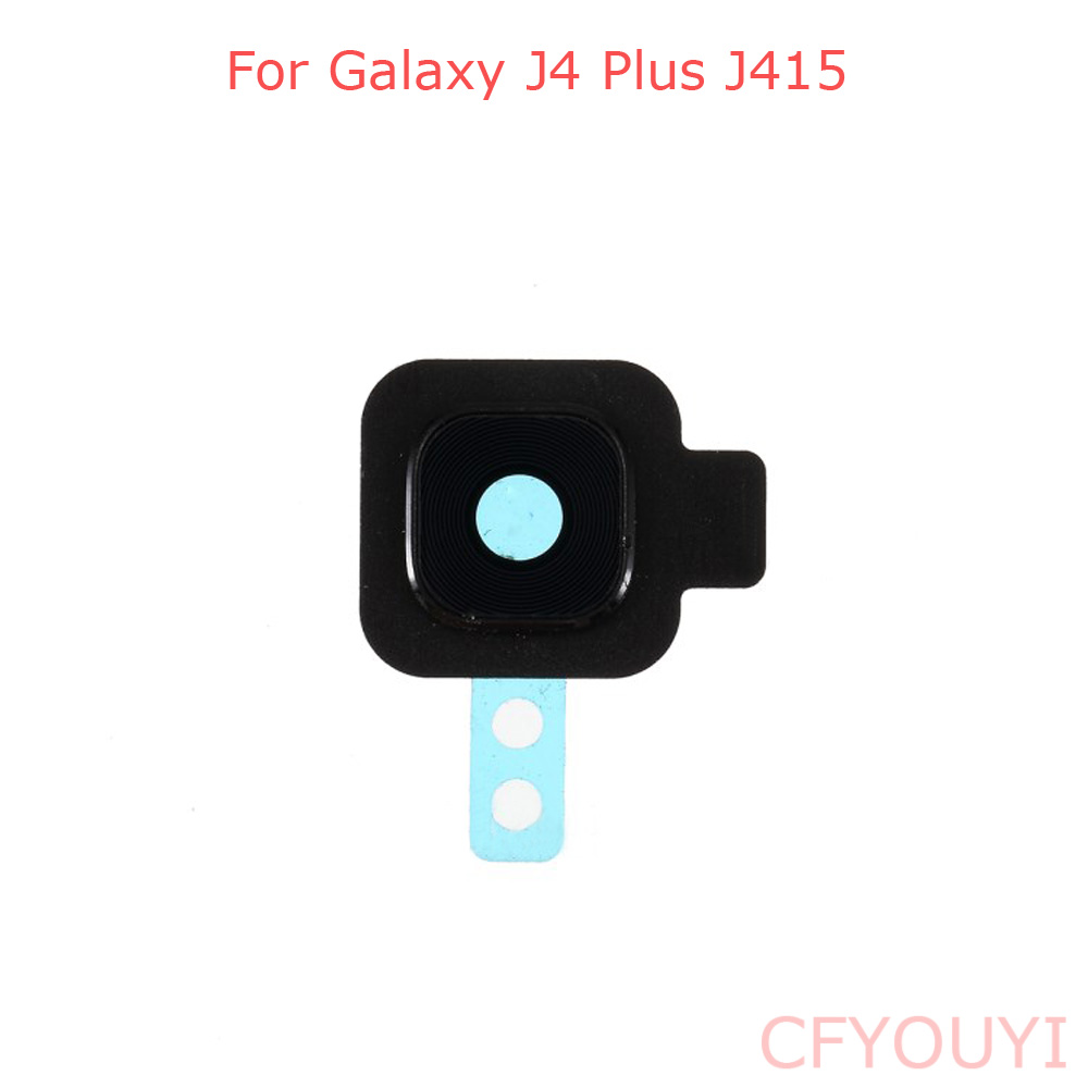 For Samsung Galaxy J4+ J4 Plus J415 Back Camera Lens Ring Cover With Glass Lens
