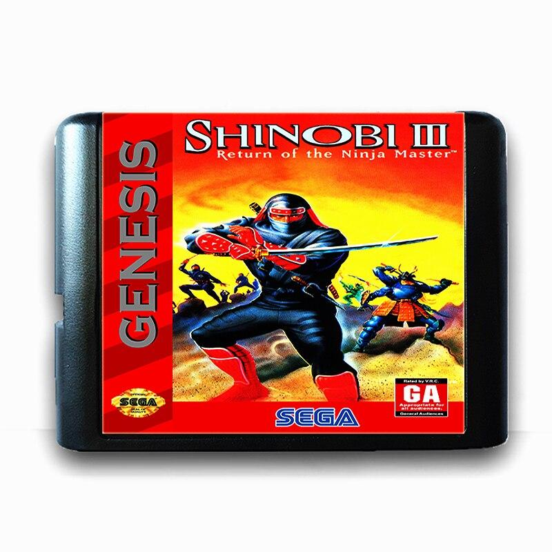 Shinobi 3 for 16 bit Sega MD Game Card for Mega Drive for Genesis US PAL