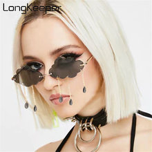 Модные солнцезащитные очки без оправы для женщин 2020 винтажные