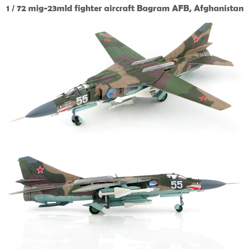 Fine  H 5309 1 / 72 Mig-23mld Fighter Aircraft Bagram AFB, Afghanistan  Alloy Collection Model