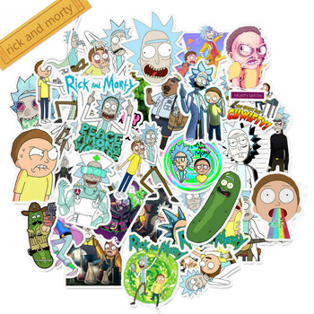 35PCS rick and morty cartoon Stickers Decal For Snowboard Luggage Fridge Car-Styling Laptop Stickers 35pcs rick and morty vinyl stickers decal for window car laptop