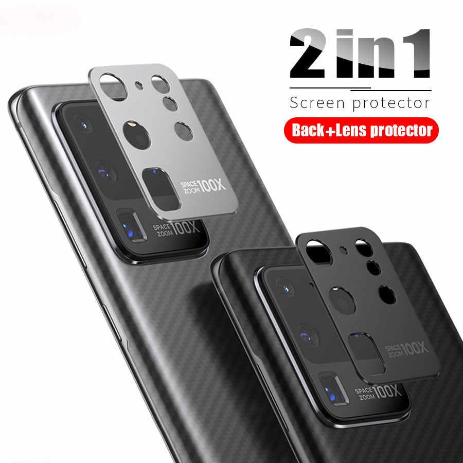 2 in 1 Zurück Screen Protector Aufkleber Metall Schutz Ring Kamera Protector für Samsung Galaxy S20 Plus Hinweis 20 5G Ultra Fall