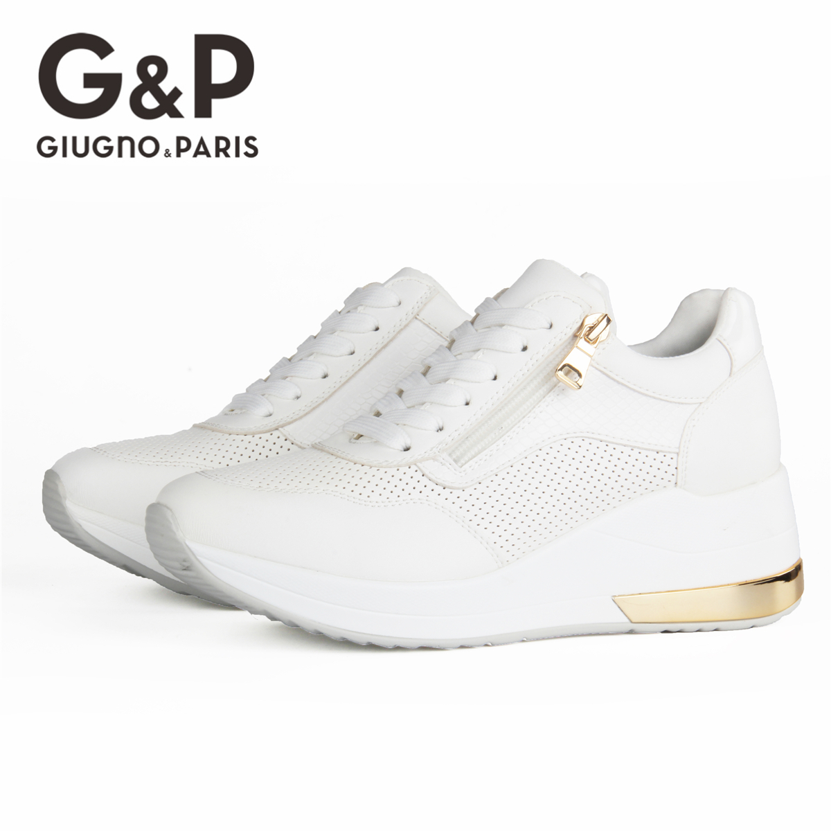 Brand Sneakers Women Breathable Shoes New Design 2020 Casual Platform Wedge Fashion Sneaker With Zipper Easy to Wear 3