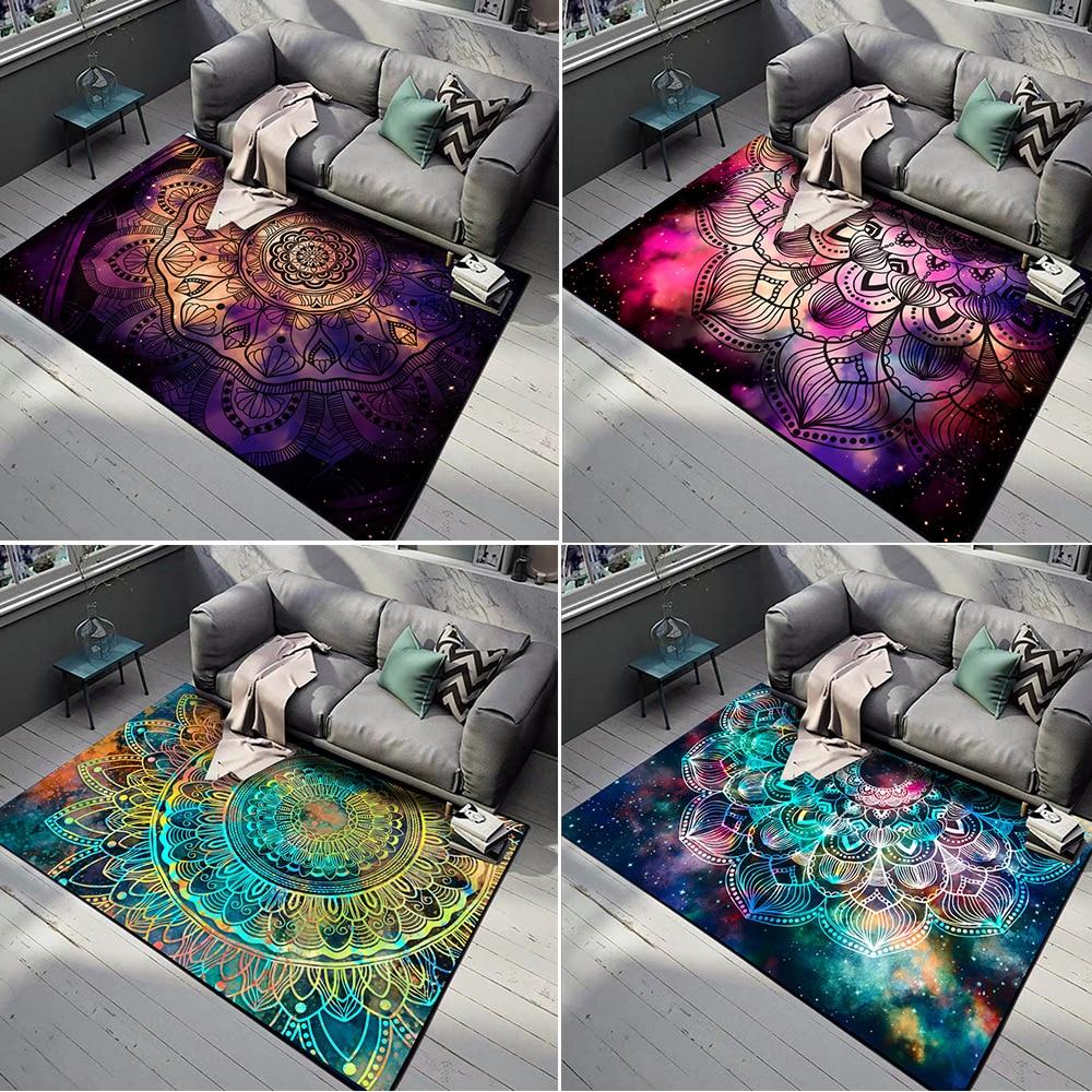 3D Mandala flower Carpet gorgeous starry beautiful ethnic large rugs bedroom living room door mat non slip sofa parlor floor mat Carpet  - AliExpress