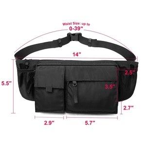 Image 2 - Сумка Кроссбоди MOYYI Мужская водонепроницаемая, повседневная сумочка на ремне для занятий спортом, нагрудной мешок на молнии, многослойная поясная сумка