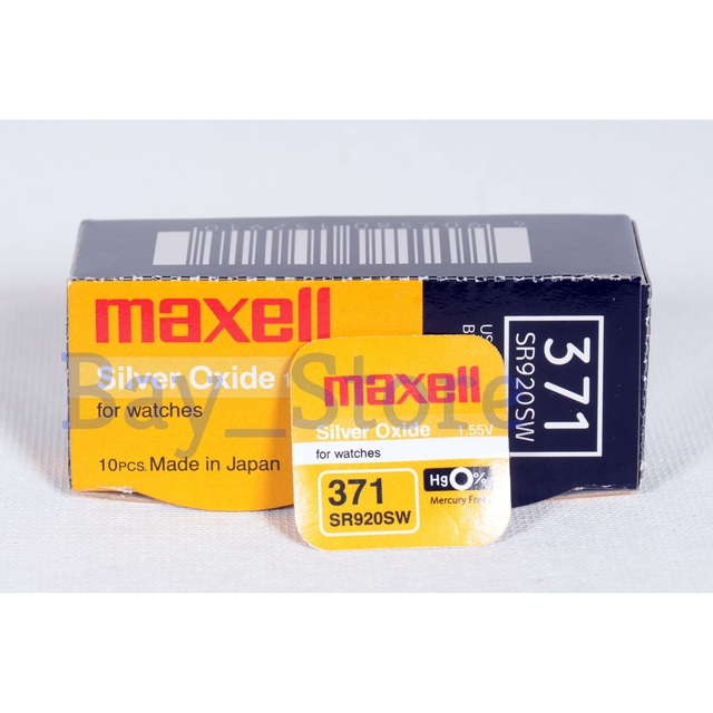 3 pièces Maxell SR920SW 371 45mAh 1.55V Oxyde Dargent Pile Bouton Batterie Made In Japan