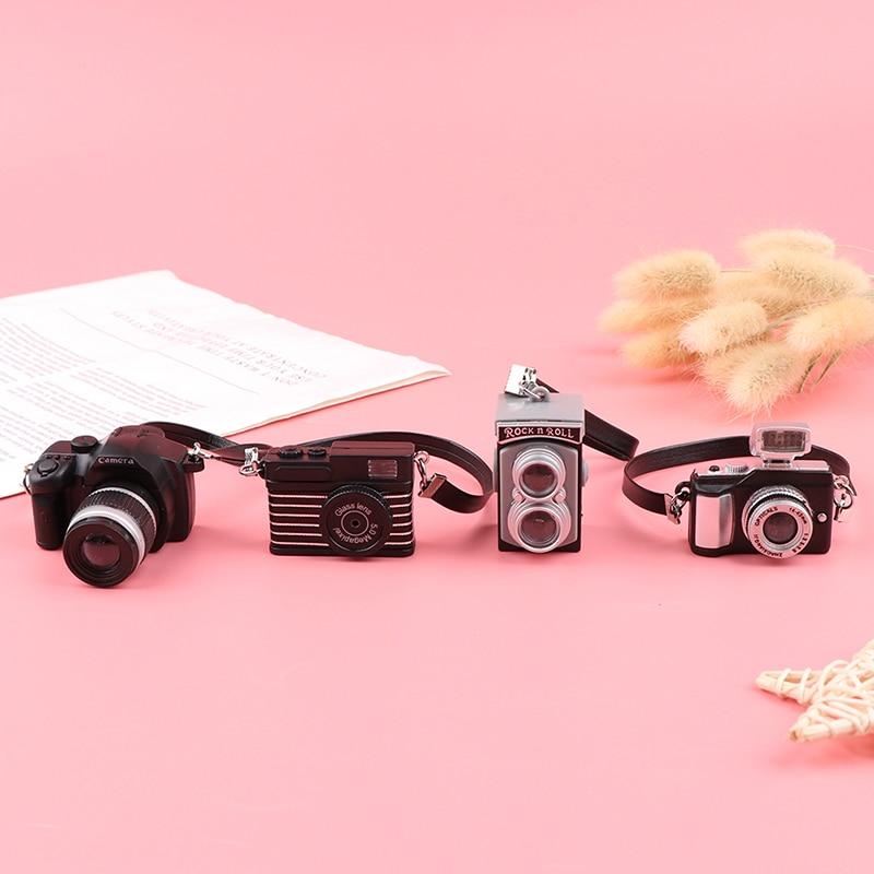 1pc casa de bonecas miniatura câmera digital acessórios bonecas casa decoração acessório 4 estilos