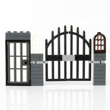 City Accessories Bricks Fence Railing Windows MOC Mini Figure House Door Garden Military ww2 Part Building Blocks Toy Child C153(China)