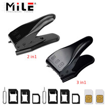 MILE 2 in1 / 3 in1 Micro SIM Nano Mano tarjeta Sim Cutter para iPhone 7 6X8 6S Plus 5S 5 5C SE / Samsung y expulsar Pin clave
