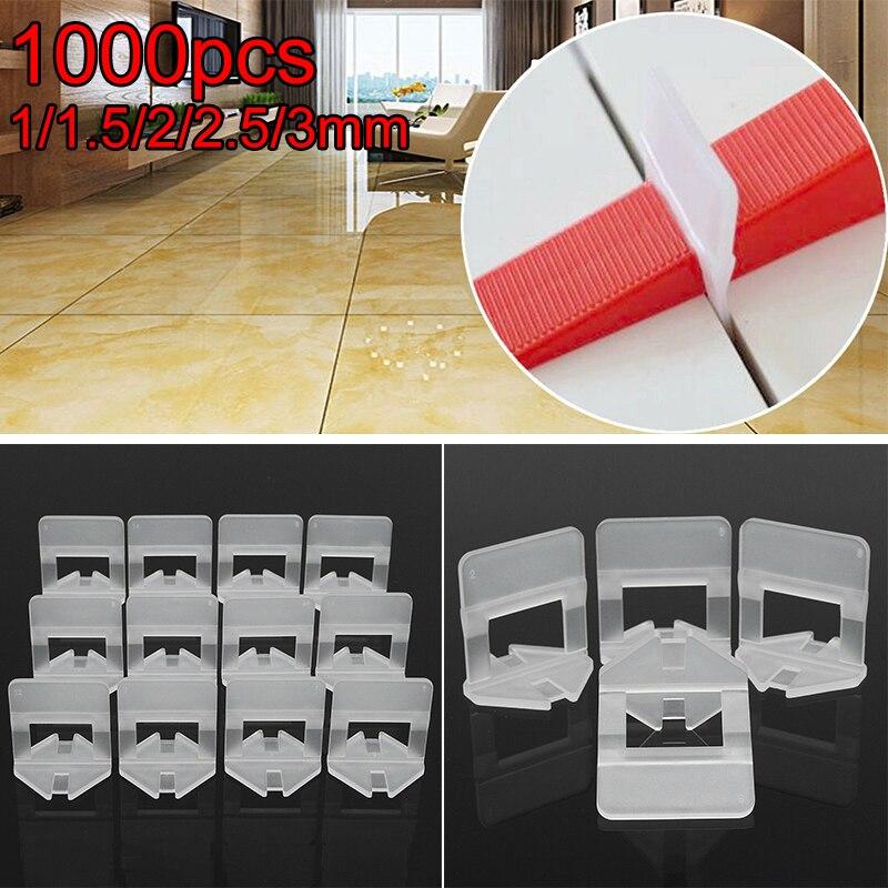 1000 pièces/ensemble Kit de système de nivellement de mur de plancher de carrelage 1/1. 5/2/2. 5/3mm réduit le besoin de meulage et de polissage