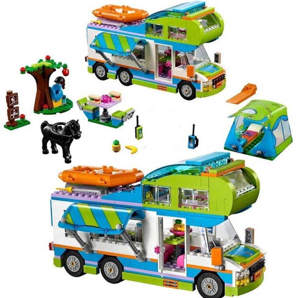 New Friends Series Mia's Camper Van Building Blocks Bricks Toys Children Birthday Gift Compatible With Lepining Friendse 41339 | Model Building