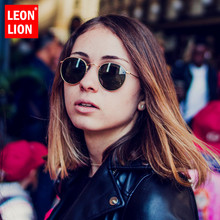 LeonLion Round Sunglasses Women 2019 Oval Womens Brand Designer Vintage Small Oculos De Sol Feminino
