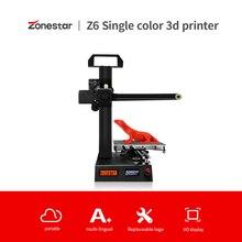 ZONESTAR Z6 Portable Mini Customized LOGO Fast Easy Install High precision Ultra Silent Low Price 3D Printer DIY Kit  Free Ship