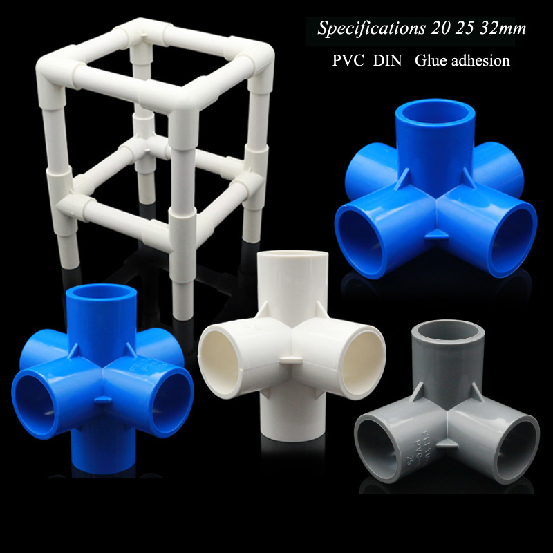 4 Types 20mm 25mm 32mm PVC Pipe Fittings 3/4/5/6 Ways Home Garden Irrigation Hose Fittings Water Connectors DIY Tools