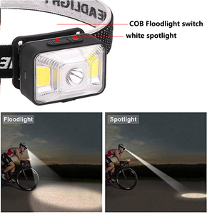 Image 4 - 5000LM LED פנס פנס נטענת פנסים, XPE LED + 2 * COB USB כבל, עמיד למים ראש לפיד עם אדום/לבן אור