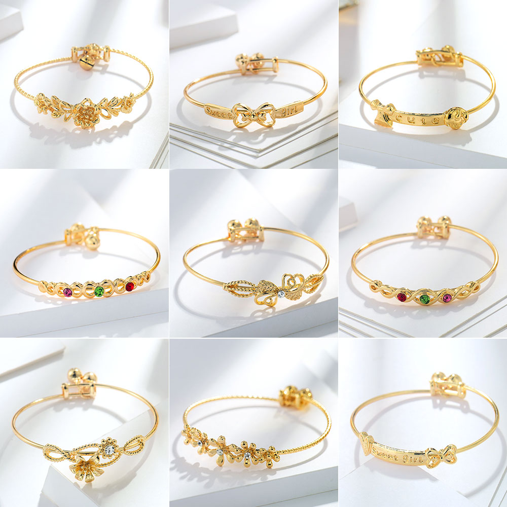 Viennois Bangles Bracelet Wedding-Party Jewelry Gold-Color Women Fashion for Chain Trendy