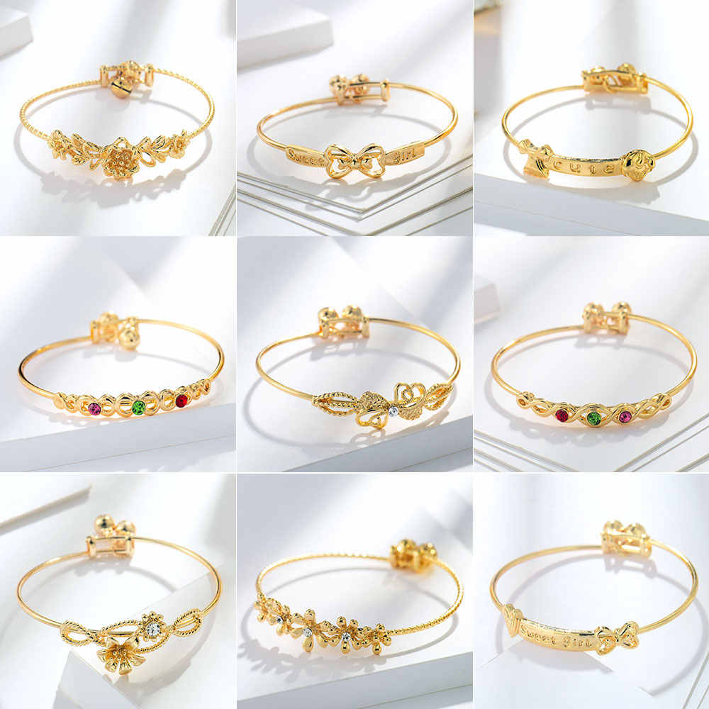 Viennois Fashion Gold Color Bracelet & Bangles For Women Chain Bracelet Trendy Wedding Party Jewelry 2019