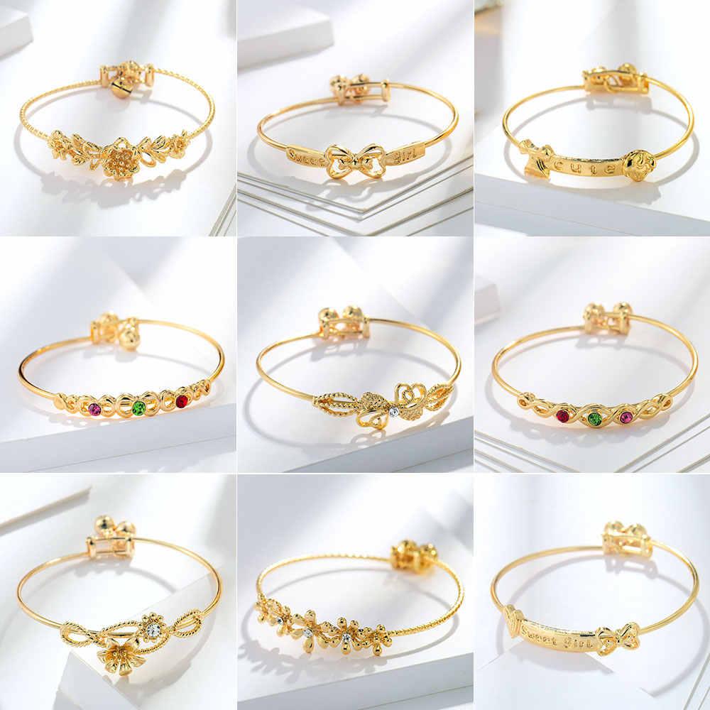 Viennois Fashion Gold Color Bracelet & Bangles For Children Chain Bracelet Trendy Wedding Party Jewelry 2019