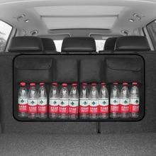 Oxford Car Trunk Organizer Adjustable Backseat Storage Bag Net High Capacity Multi use Automobile Seat Back Organizers Universal