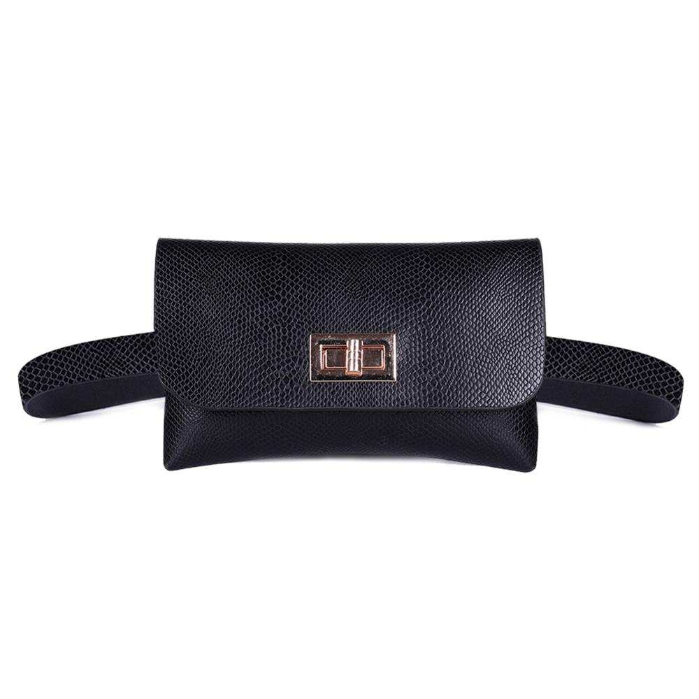 Fashion Snake Print Small Women Waist Fanny Packs PU Leather Chest Bags Classic Pouch Purse Casual Belt Bag Female Waist Bag