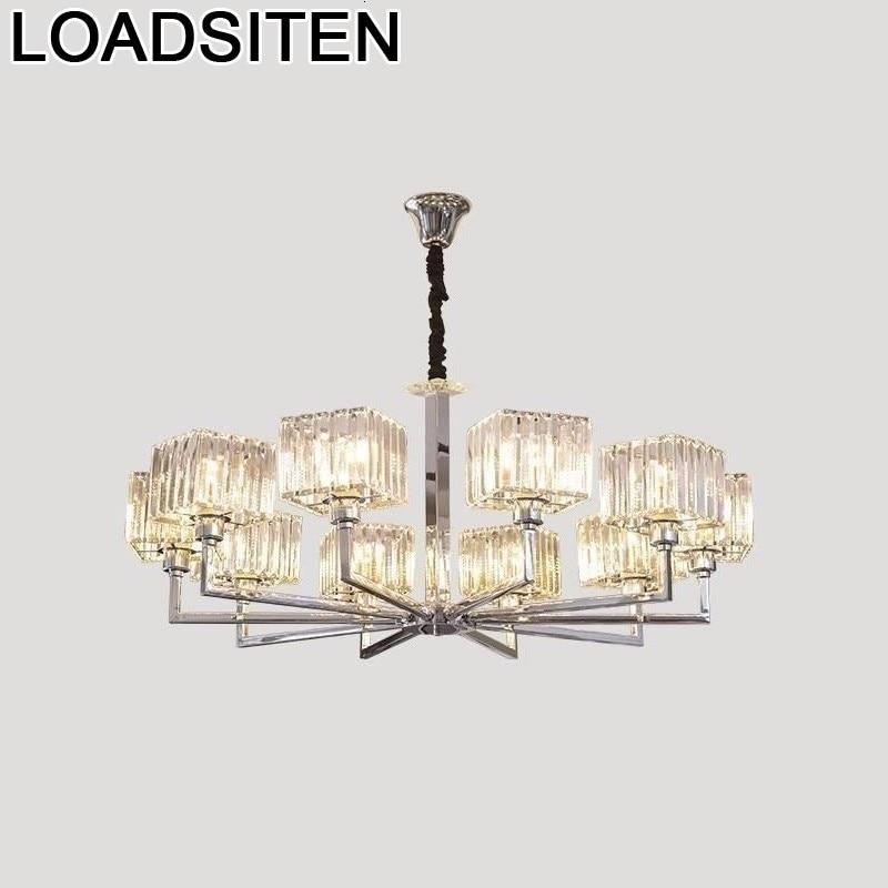 Pendant Loft Crystal Nordic Light Luminaire Suspendu Lustre E Pendente Para Sala De Jantar Lampara Colgante Hanging Lamp