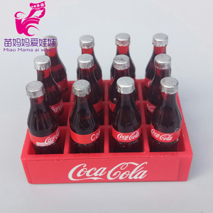 Mininature Simulation drink food BJD dolls Kitchen pots and pans dishes glasses mini cola for barbie doll house accessories(China)