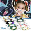10PC Children Outdoor Mask With Clear Window Visible Expression For Deaf Mute For Protection For Adults Scarf Flag Bandana#3 1