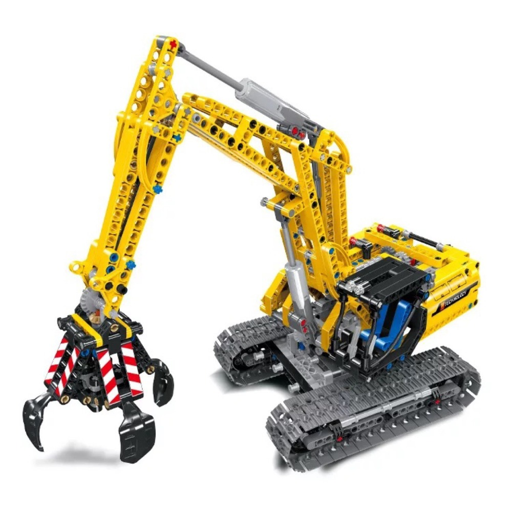 38014 720pcs Compatible Lepining Technic Excavator Model Building Blocks Brick Without Motors City Kid Toys For Children Gift(China)