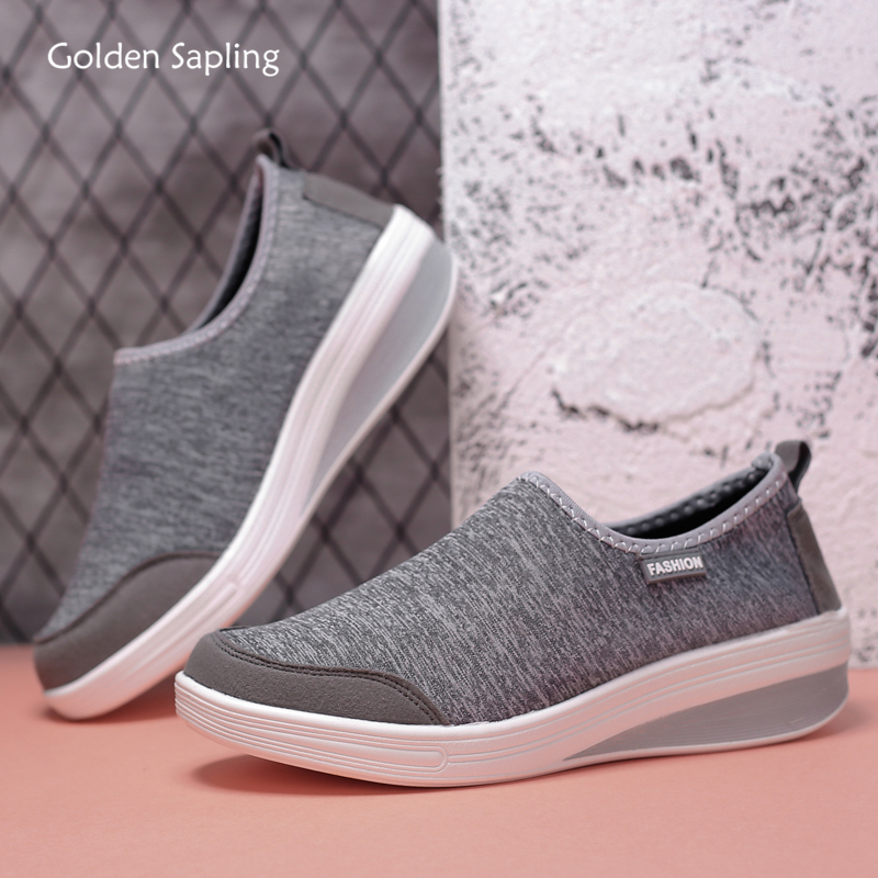 Golden Sapling Light Weight Women's Sneakers Breathable Slip-on Trainer Sport Shoes Fitness GYM Comfortable Running Shoes Women