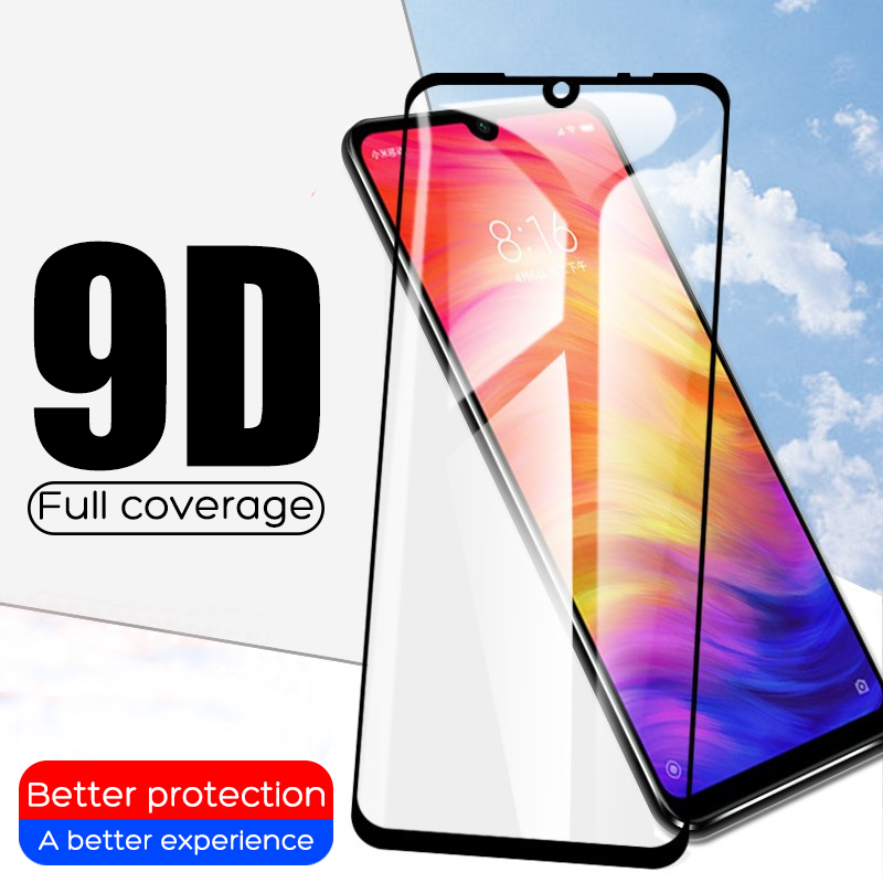 9D Tempered Glass For Xiaomi Redmi note 5 6 7 Pro Screen Protector On The Redmi 6A 6 Pro Glass Protective Glass On Redmi Note 7-in Phone Screen Protectors from Cellphones & Telecommunications