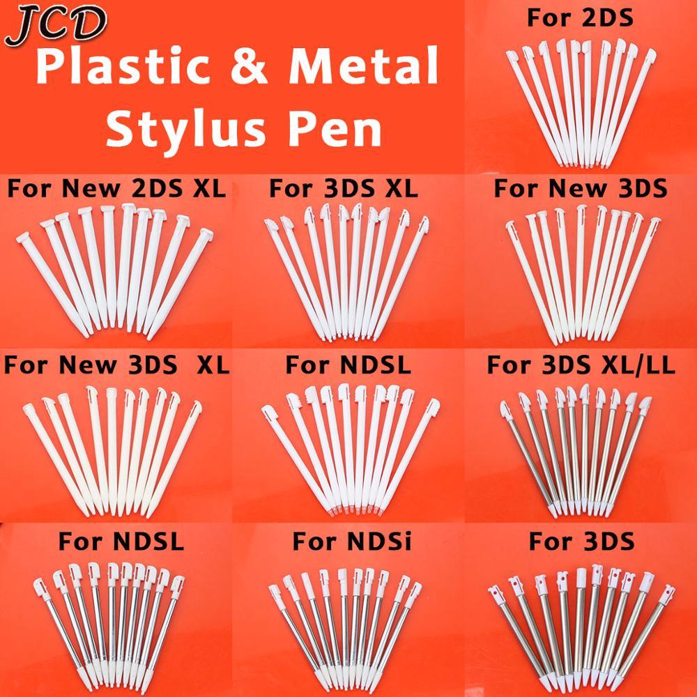Металлический телескопический стилус JCD 10 шт., пластиковый стилус, стилус для сенсорного экрана для Nintendo 2DS 3DS, новинка 2DS, 3DS XL LL для NDSL NDSi