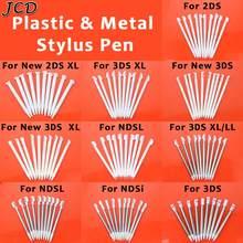 Jcd 10 pçs metal telescópica caneta stylus caneta de tela de toque de plástico para nintendo 2ds 3ds novo 2ds 3ds xl ll para ndsl ndsi