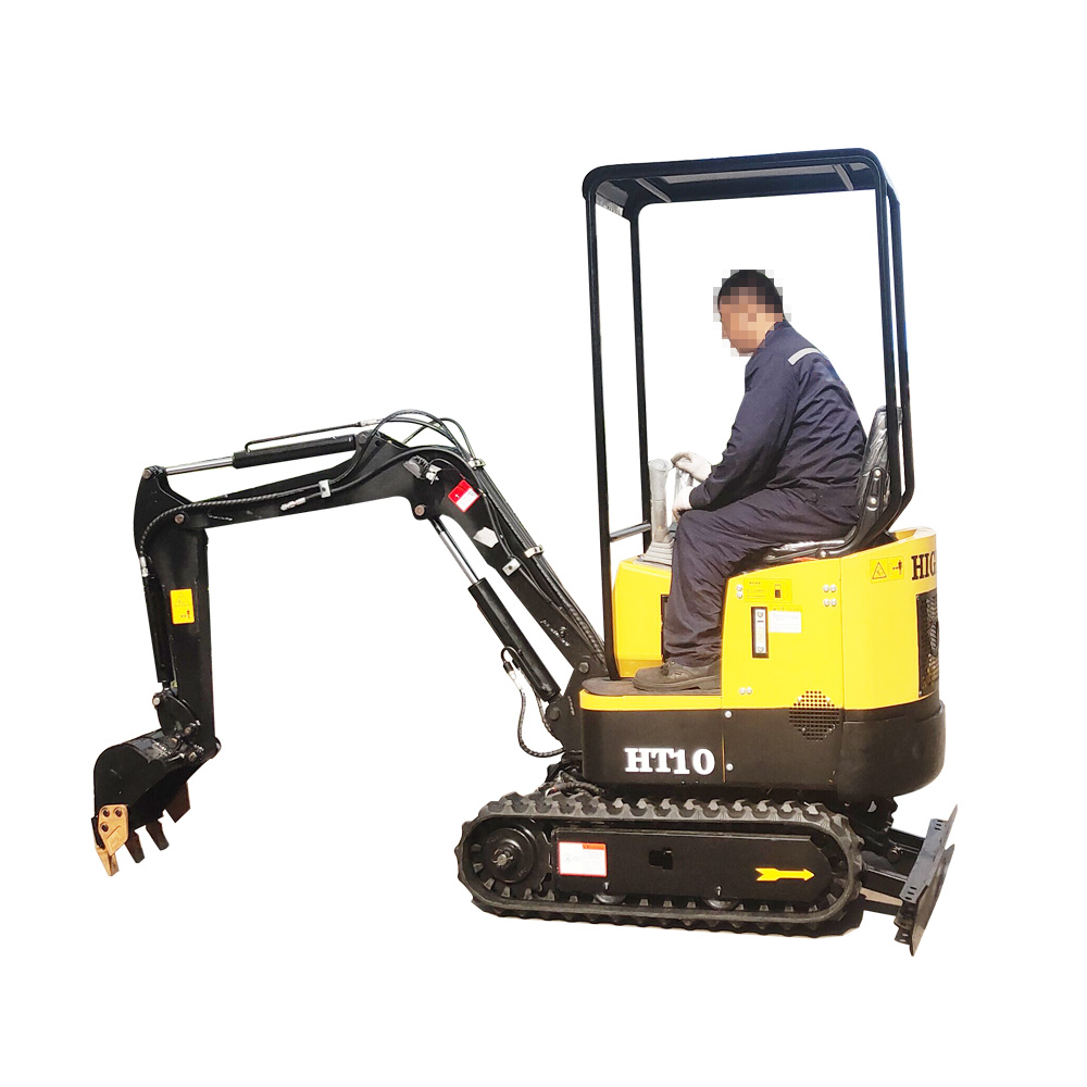 HT10 1ton Mini Excavator Small Digger With Diesel Engine CE EPA Approved