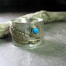 Boho перо вырезка широкий кольца для женщин с рисунком стрекозы
