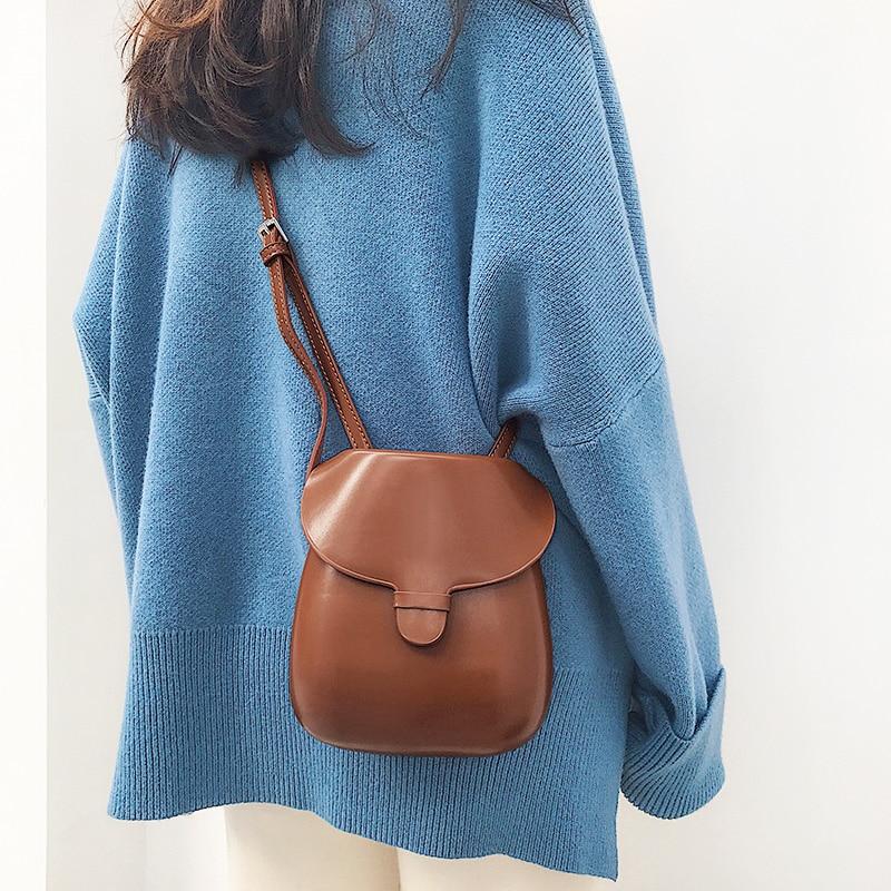 MABULA Classic Vintage Messenger Bag Simple Luxury Designer Saddle Flap Shoulder Bag Small PU Leather Crossbody Bags For Women