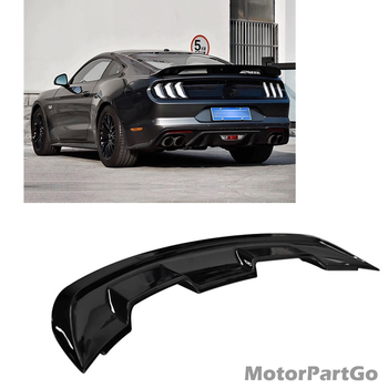 Rear Trunk Spoiler Wing For Ford Mustang Coupe GT500 Style 2015-2020 Glossy Black Car Tail Gate Window Splitter Guard Plate Lip 1