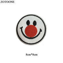 ZOTOONE Iron on Cute Clown Patches for Clothing T-shirt Cool Badges Embroidered DIY Cool Patch Sew Stripe on Clothes Applique G