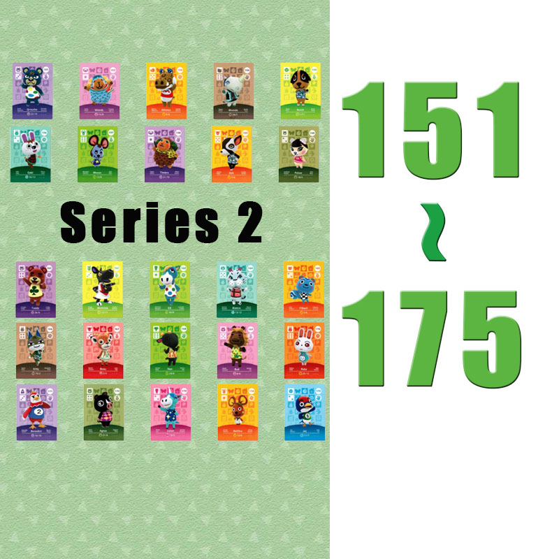 (151 To 175) Animal Crossing Card NTAG215 Printed NFC Card Compatible Pick From The List