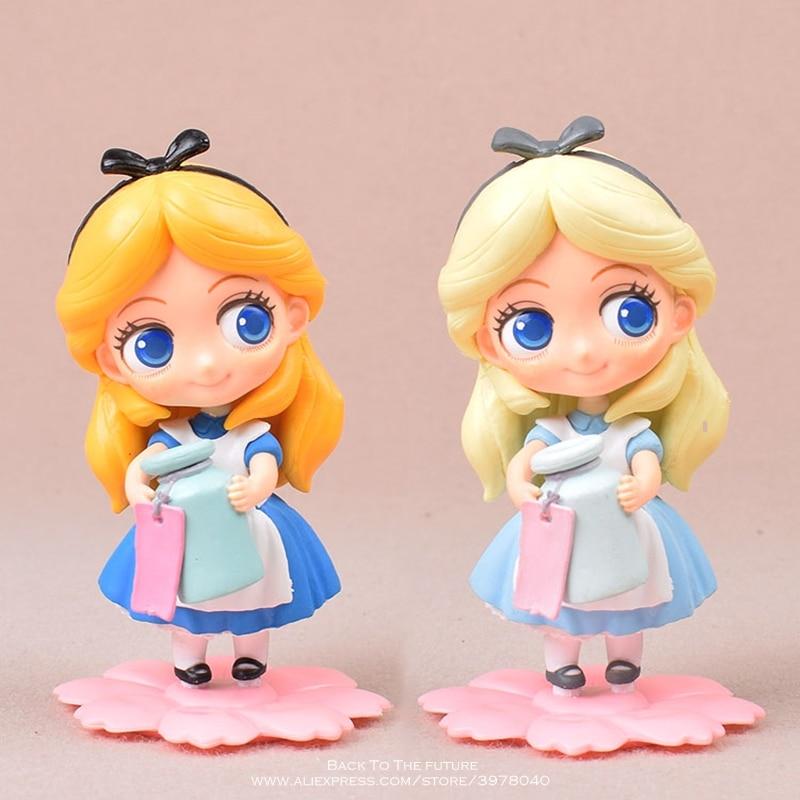 Disney Alice in Wonderland 11cm Action Figure Model Anime Mini Decoration PVC Collection Figurine Toy model for children gift