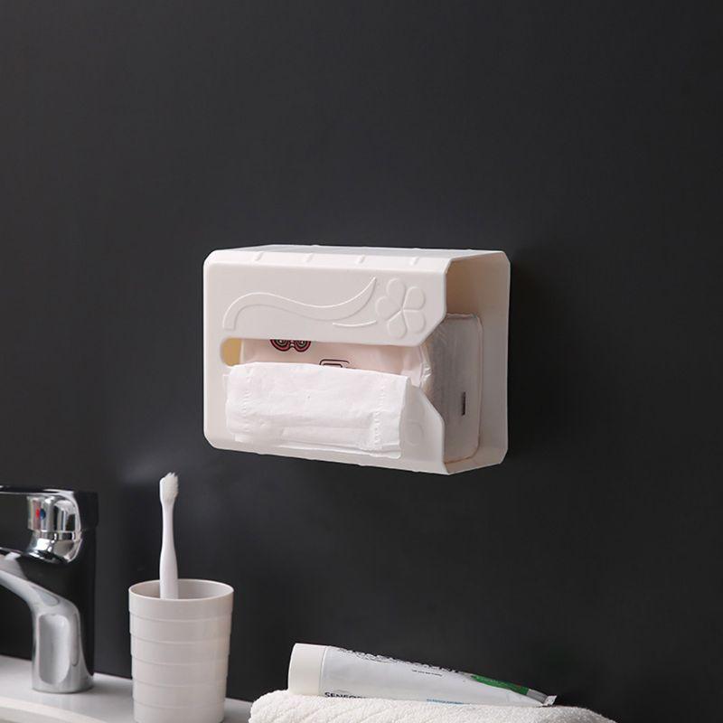 Самоклеящийся ткани Держатель Для Салфеток Настенный распределитель пакетов одноразового использования стеллаж для выставки товаров
