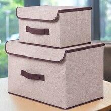 Cajas de almacenamiento con tapas sin olor tela de poliéster cestas de almacenamiento transparentes contenedores con organizador de doble cubierta