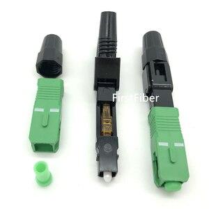 Image 4 - SC APC Быстрый Соединитель встроенный SC адаптер FTTH SC APC Быстрый Соединитель волоконно Обрезной аппарат посылка 10/20/50/100 шт.