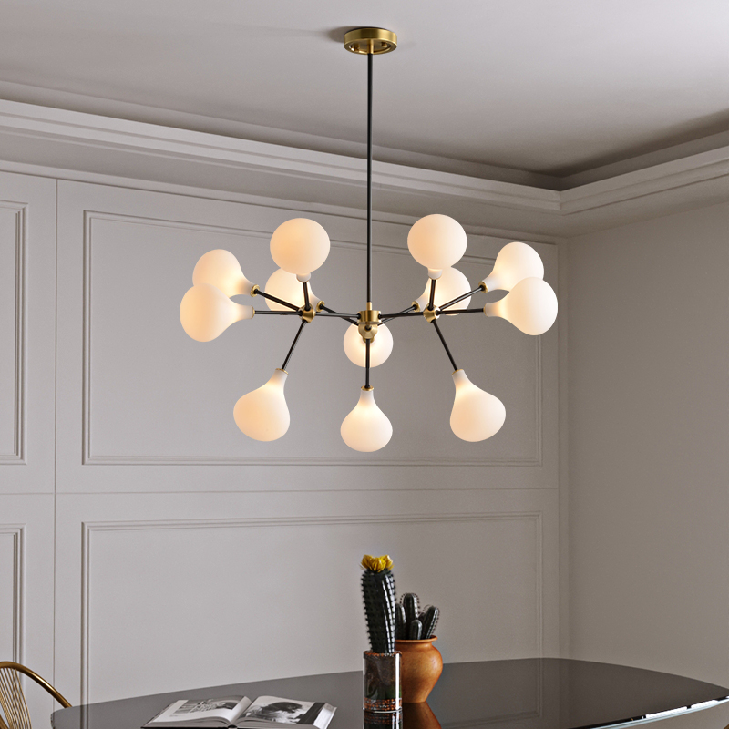 creative copper chandelier kitchen contemporary design Nordic chandelier for living room Modern house decoration black and gold Chandeliers     - title=