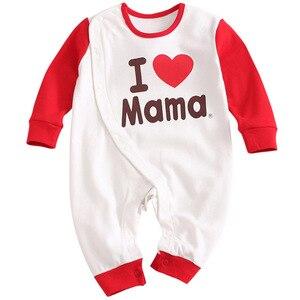 Image 5 - 2019 אביב חדש תינוקות בגדי Romper כותנה מכתב הדפסת 10.15
