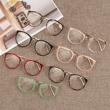 Hot 1Pcs Unisex Myopia Optical Glasses Eyeglasses Frames Women Trend Metal Spectacles Clear Lenses Men Glasses Frame Oculos 1 61 anti blue ray prescription optical eyeglasses spectacles lenses 1 pair rx able lenses free assembly with glasses frame