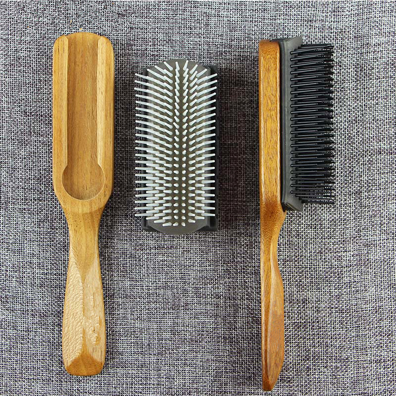 Portable Men Anti-static Hair Comb Brush Pro Hair Care Ribs Comb High Quality Durable Anti-static Light Weight Soft G0120