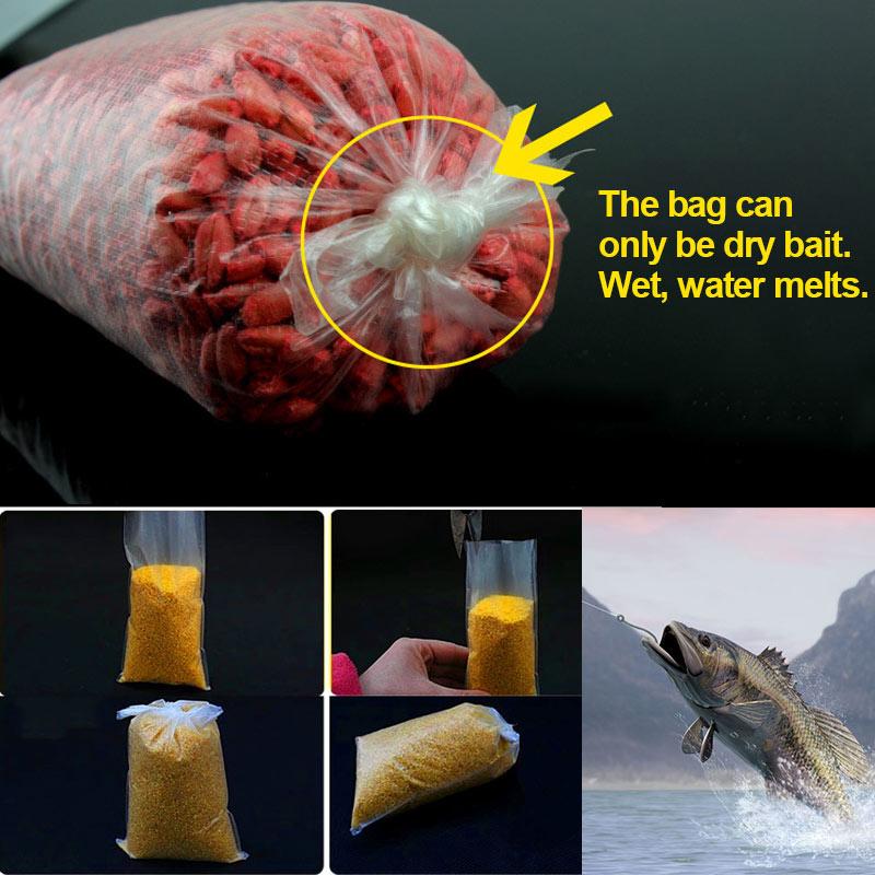20/40/60 Pcs Fishing PVA Bag Feeder Sea Carp Coarse Water Dissolving Fishing Tackle Material Accessories ENA88